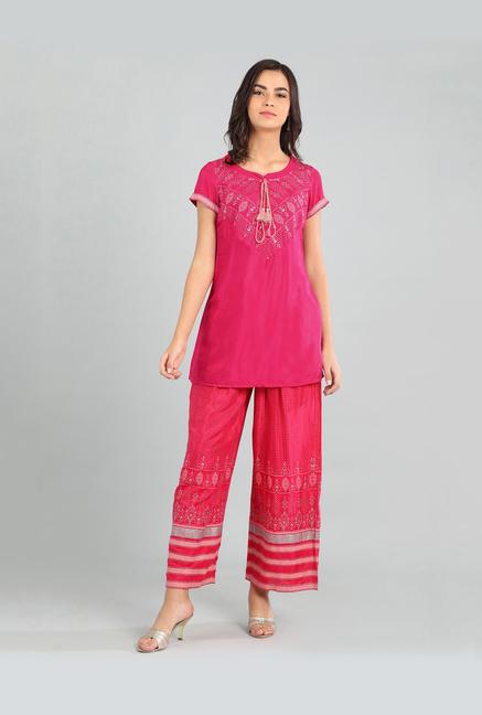Aurelia Pink Printed Kurti