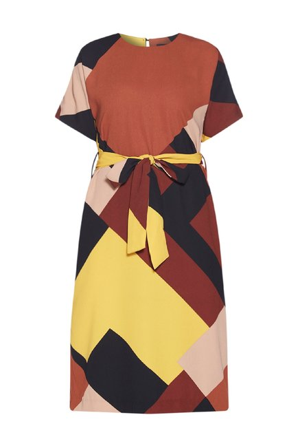 7bc79abc87 Buy Wardrobe by Westside Multicolour Tasha Dress With Belt for Women ...