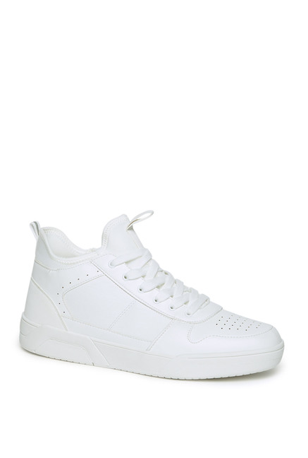 Westside White Faux Leather High
