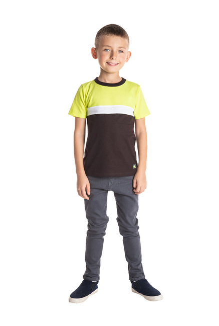 72324033 Buy Cherry Crumble California Kids Brown Solid T-Shirt for Boys ...