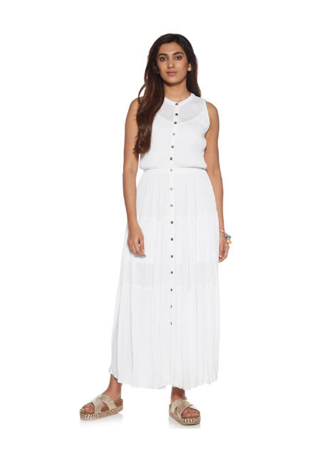 f65c0adaaf2 Buy LOV by Westside White Tiered Maxine Dress for Women Online   Tata CLiQ