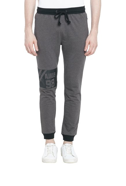 5dd3cda249 Buy Ajile by Pantaloons White Cotton Polyblend Trackpants for Men's ...