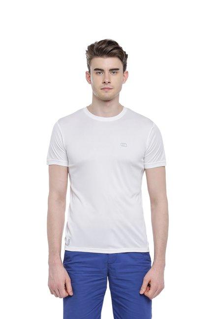478b528c7 Buy Ajile by Pantaloons White Crew T-Shirt for Men s Online   Tata CLiQ