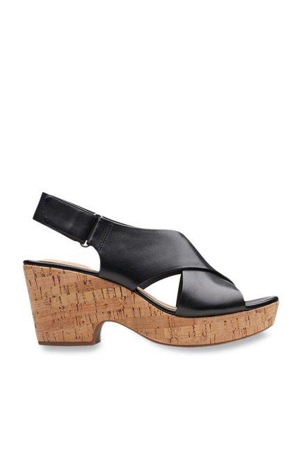 c80a20cb628d Buy Clarks Maritsa Lara Black Back Strap Sandals for Women at Best ...