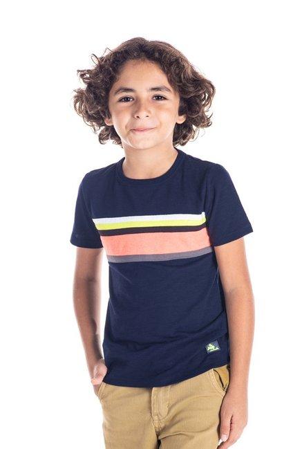 6c37ccba Buy Cherry Crumble California Kids Navy Striped T-Shirt for Boys ...