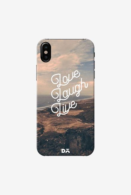 DailyObjects Love Laugh Live Case Cover For iPhone X