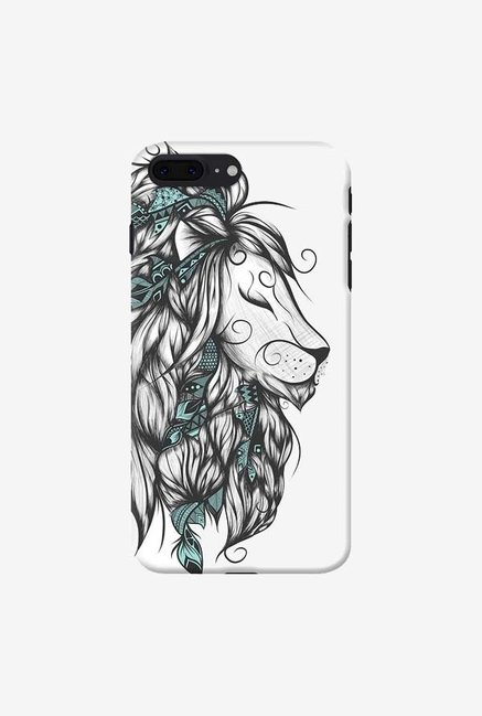 DailyObjects Poetic Lion Turquoise Case For iPhone 7 Plus