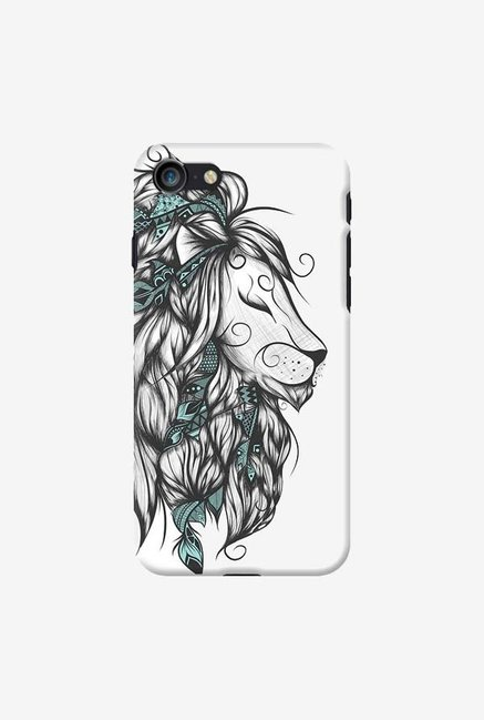 DailyObjects Poetic Lion Turquoise Case For iPhone 7
