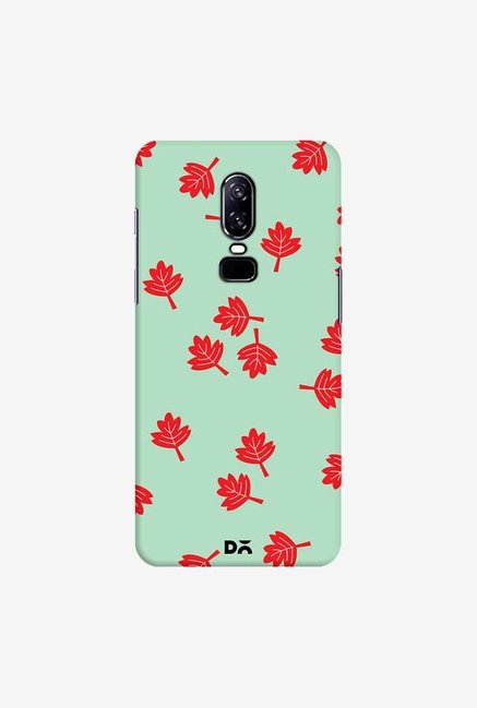 DailyObjects Maple Leaf Mint Case Cover For OnePlus 6