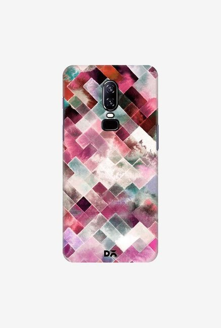 DailyObjects Moody Geometry Pink Case Cover For OnePlus 6