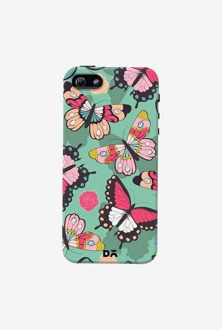 DailyObjects Butterflies Green Case Cover For iPhone 5/5S