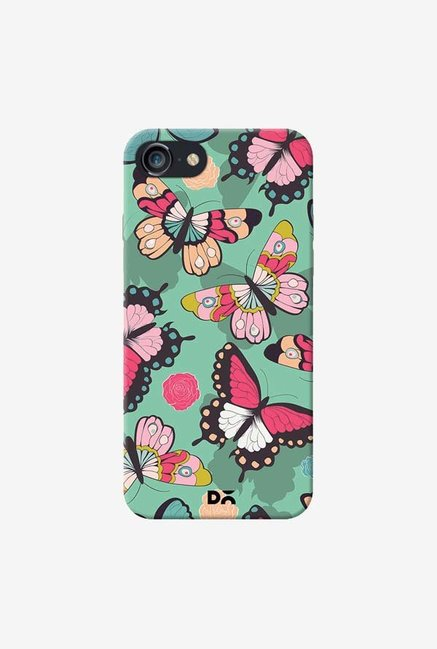 DailyObjects Butterflies Green Case Cover For iPhone 7