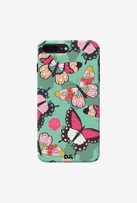 DailyObjects Butterflies Green Case Cover For iPhone 8 Plus