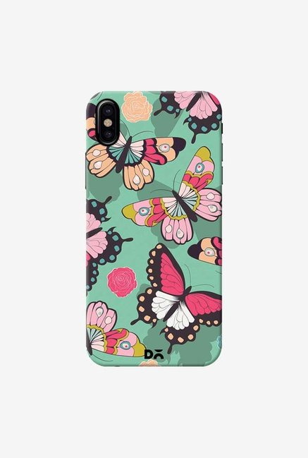 DailyObjects Butterflies Green Case Cover For iPhone X
