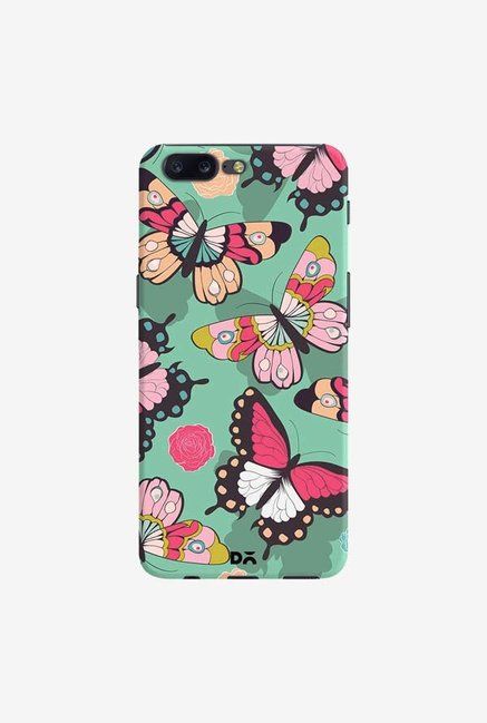DailyObjects Butterflies Green Case Cover For OnePlus 5