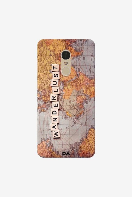 DailyObjects Wanderlust Map Case Cover For Xiaomi Redmi Note 5