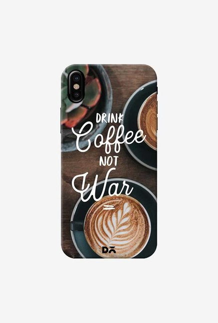 DailyObjects Coffee Not War Case Cover For iPhone X