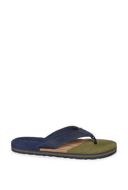 ba3ef3b8b65 Buy SOLEPLAY by Westside Navy Panel Detailed Flip-Flops For Men ...