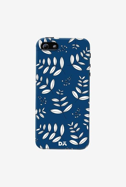 DailyObjects Botanical Leaves Blue Case Cover For iPhone 5/5S