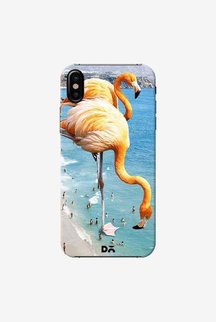 DailyObjects Flamingos On The Beach Case Cover For iPhone X