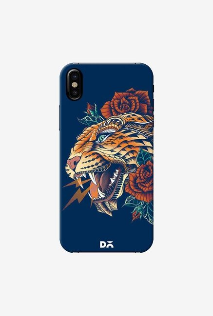 DailyObjects Ornate Leopard Blue Case Cover For iPhone X
