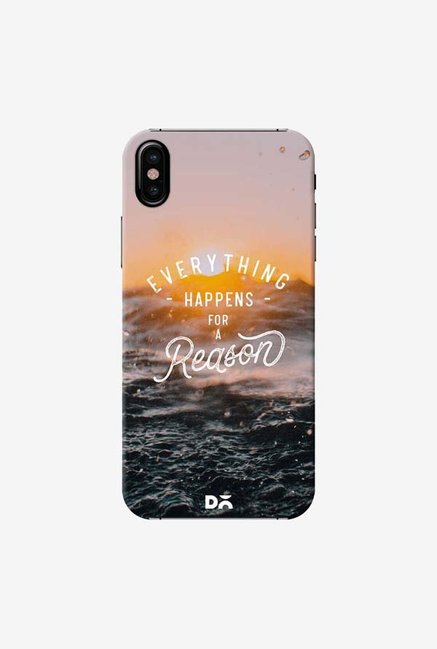 DailyObjects Happens For A Reason Case Cover For iPhone X