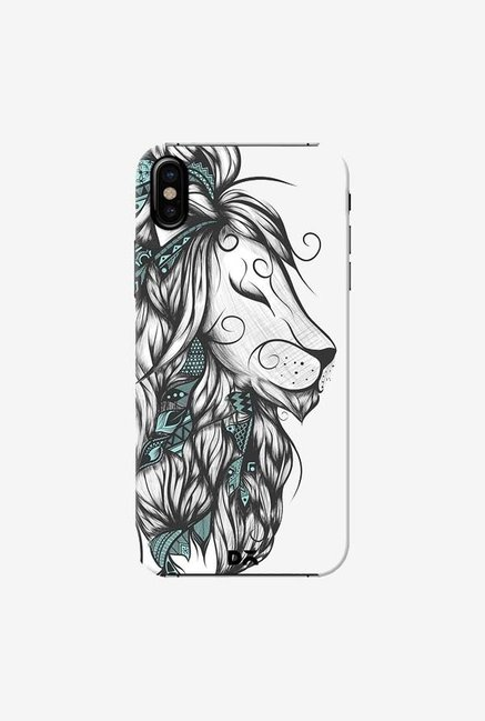 DailyObjects Poetic Lion Turquoise Case Cover For iPhone X