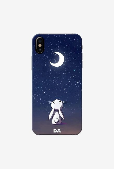 DailyObjects Moon Bunny Case Cover For iPhone X
