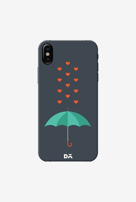 DailyObjects Its Raining Hearts Case Cover For iPhone X