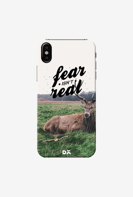 DailyObjects Fear Is Not Real Case Cover For iPhone X