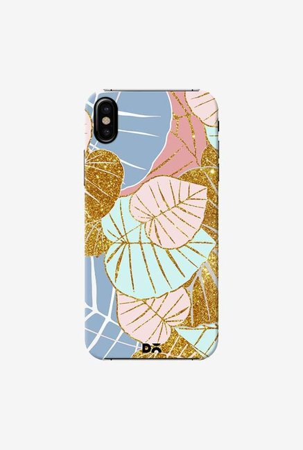 DailyObjects Floral Gold Case Cover For iPhone X