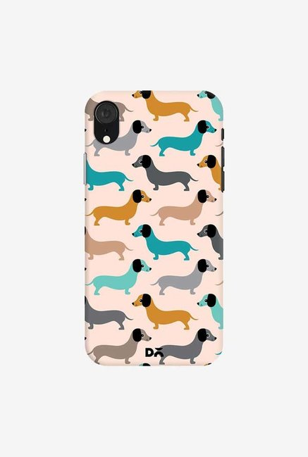 DailyObjects Sausage Dogs Blue Case Cover For iPhone XR