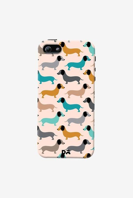 DailyObjects Sausage Dogs Blue Case Cover For iPhone 5/5S