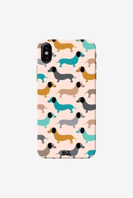 DailyObjects Sausage Dogs Blue Case Cover For iPhone XS