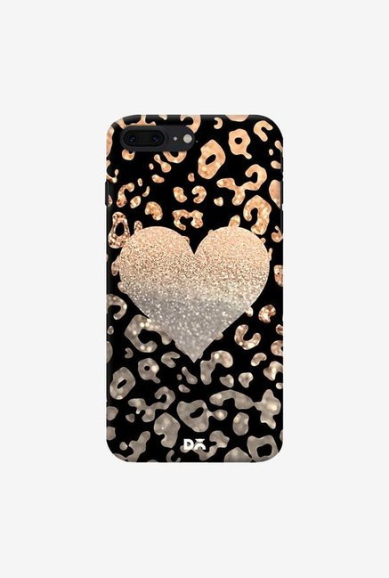 DailyObjects Gold Heart Leo Black Case For IPhone 7 Plus