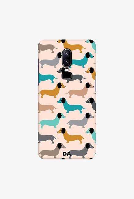 DailyObjects Sausage Dogs Blue Case Cover For OnePlus 6