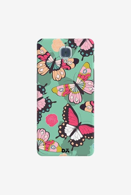 DailyObjects Butterflies Green Case Cover For OnePlus 3T
