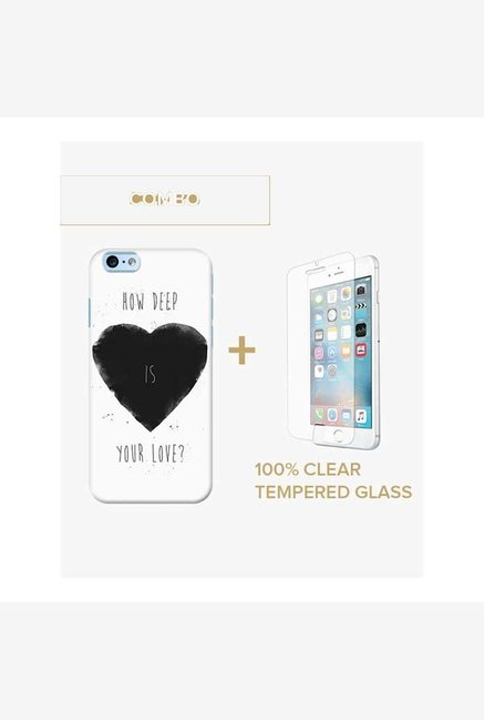 DailyObjects How Deep Is Your Love Case For iPhone 6 Plus Combo