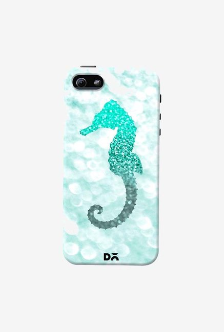 DailyObjects Champagne Seahorse Aqua Case Cover For iPhone 5/5S