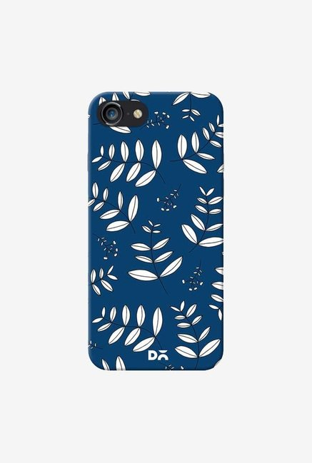DailyObjects Botanical Leaves Blue Case Cover For iPhone 8