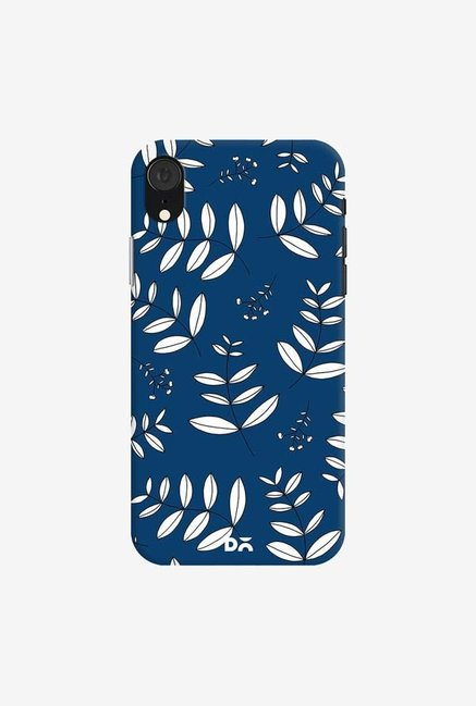 DailyObjects Botanical Leaves Blue Case Cover For iPhone XR