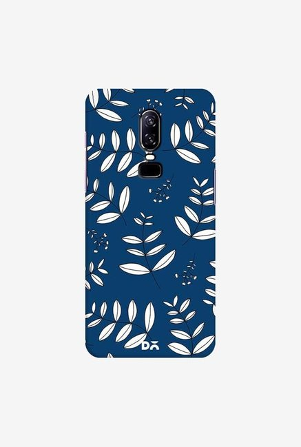 DailyObjects Botanical Leaves Blue Case Cover For OnePlus 6