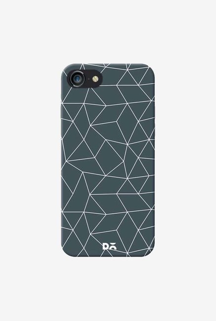 DailyObjects Geometric Maze Stone Gray Case Cover For iPhone 8