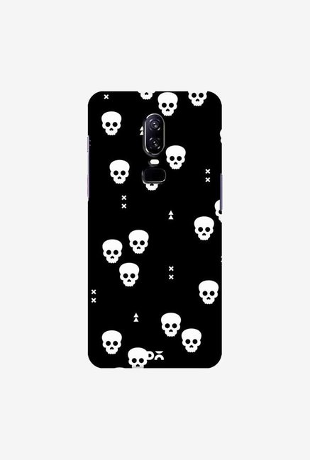 DailyObjects Spooky Skulls Black Case Cover For OnePlus 6