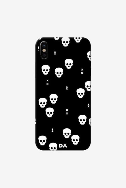 DailyObjects Spooky Skulls Black Case Cover For iPhone XS