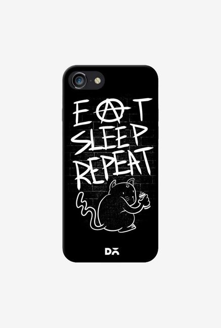 DailyObjects Eat Sleep Repeat Case Cover For iPhone 8