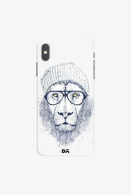 DailyObjects Cool Lion White Case Cover For iPhone XS Max