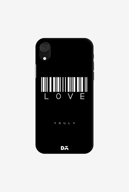 DailyObjects Barcode Love Truly Black Case Cover For iPhone XR