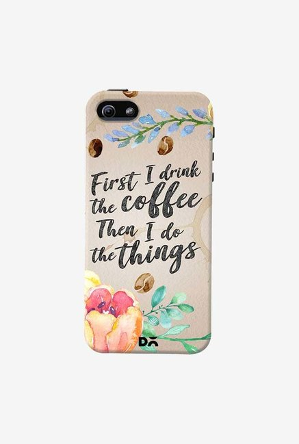DailyObjects I Drink Coffee Case Cover For iPhone 5/5S