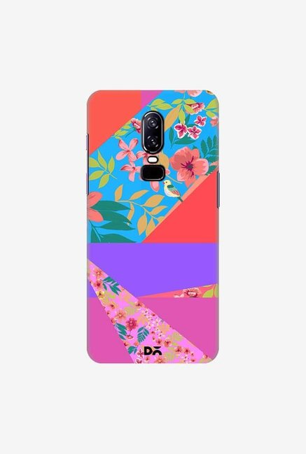 DailyObjects Floral Diagonals Case Cover For OnePlus 6